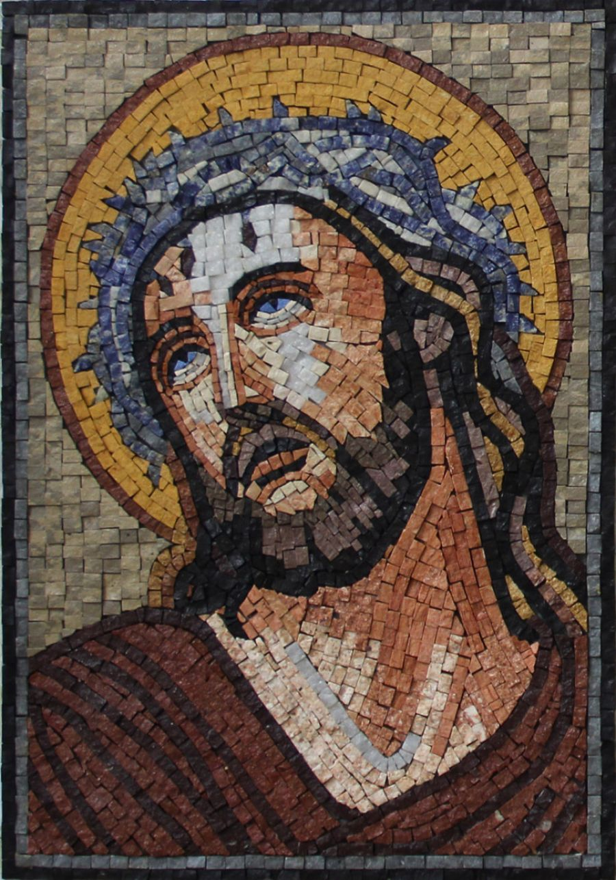 Religious mosaics tile by design for Crossing the shallows tile mural