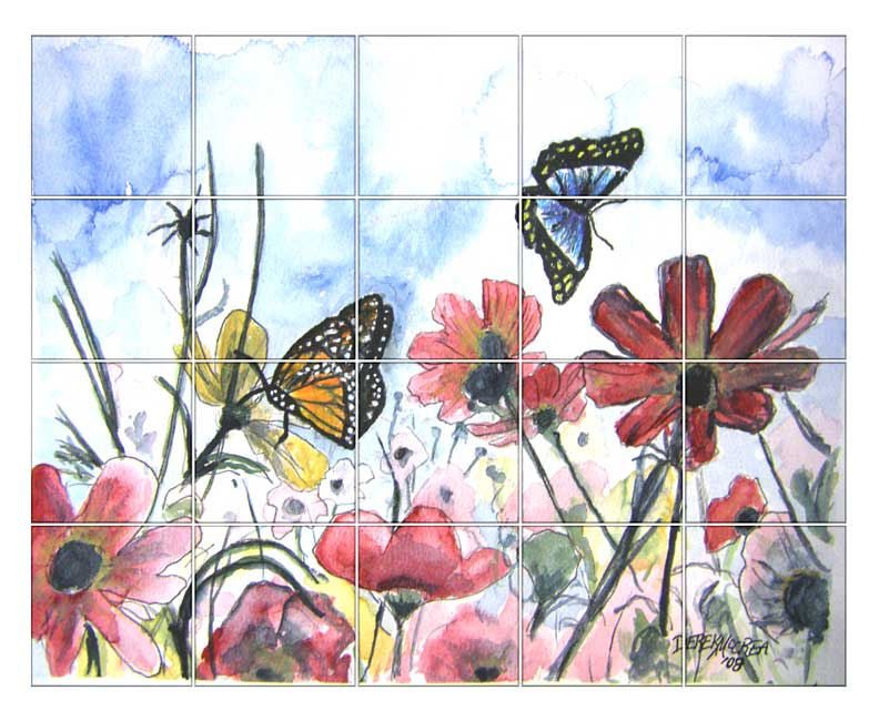 Flowers And Butterflies Drawings