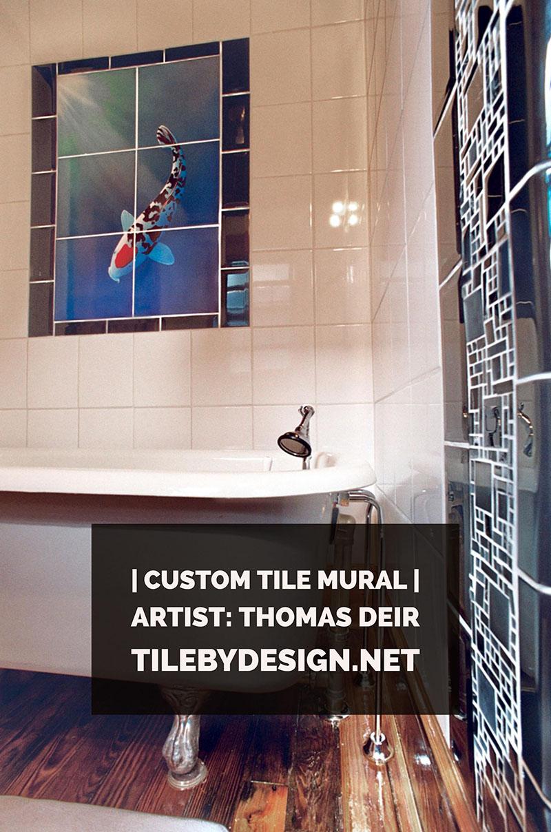 Custom tile murals tile by design for Decorative tile mural